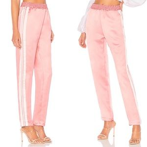 Lovers + Friends Tailored Pink Track Trouser Pants